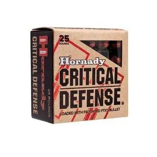 HORNADY AMMO 45ACP 185GR FTX CRITICAL DEFENSE