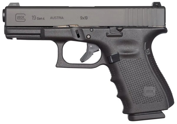"Glock G19 Gen4 9MM, 4"""