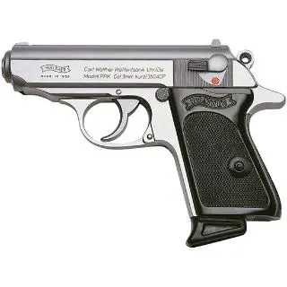 """WALTHER PPK 380ACP 3.3"""" SS 2 6RD"""