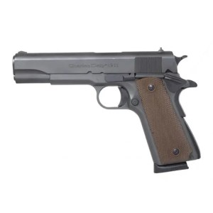 "CHARLES DALY 1911 45ACP 5"" BLK BROWN CHECKERED GRIPS (805380094213)"