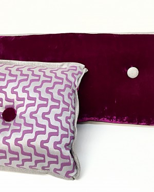 Custom Violet Decorative Throw Pillows - Edith Barrera Interiors