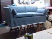 Custom Slipcovered Sofa - Blue