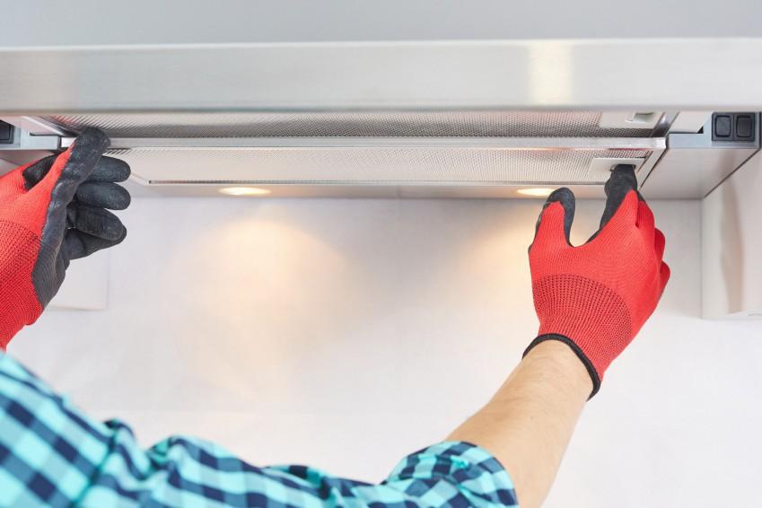 range hood and kitchen exhaust fan