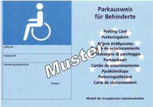 Behindertenausweis- Muster