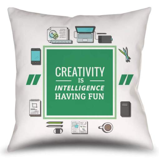Almofada Creativity - Albert Einstein - Coleção Office Station - Barril Criativo