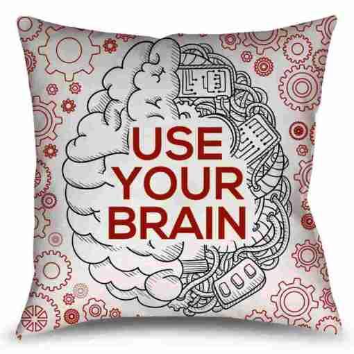 Almofada Use Your Brain - Cérebro - Coleção Office Station - Barril Criativo