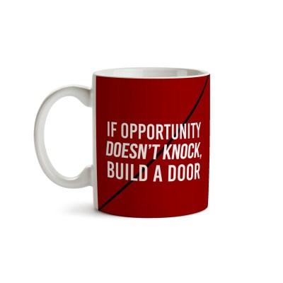 Caneca Knock Door Frente - Oportunidade - Coleção Office Station - Barril Criativo
