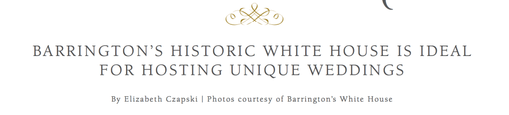 Address of Barrington's White House