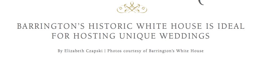 Address of Barrington's White House