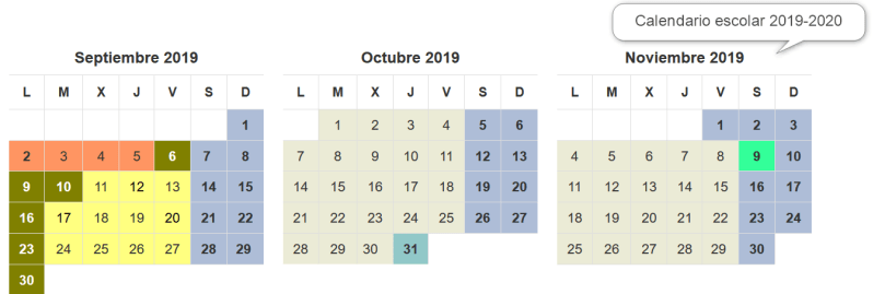 Calendario Escolar Madrid 2020 2019.Este Es El Calendario Escolar De Madrid 2019 2020 Barrio Salvador