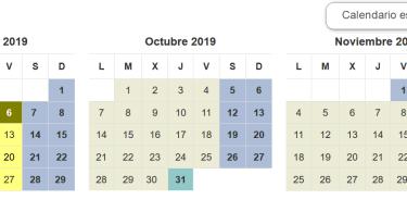período lectivo 2019 - 2020