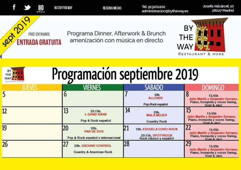 programación by the way septiembre 2019