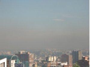Mala calidad de aire en Bogotá