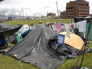 200 desplazados en el barrio Carvajal