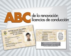 Renovación de las licencias de conducción