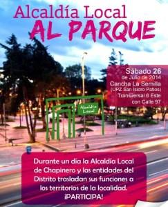 'Alcaldía al Parque' a Chapinero