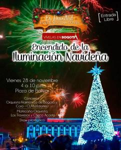 Iluminación navideña en Bogotá