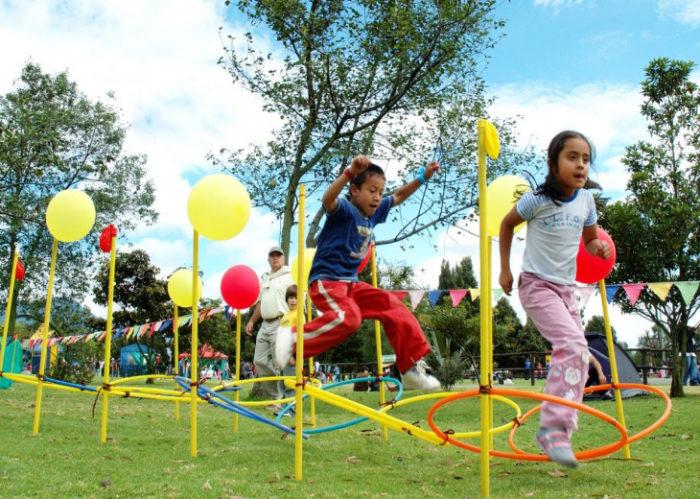 Niños en parque