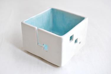 Cuenco Lanero Cubo Azul