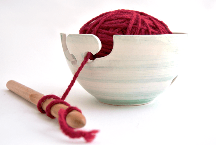 Green Double Hitch Yarn Bowl