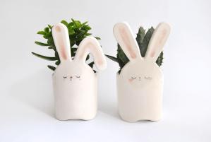 Maceteros Conejo Blanco