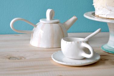 Tetera y taza Rústica