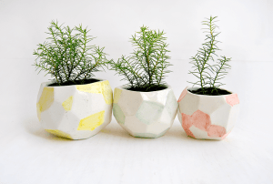Faceted Planters Set