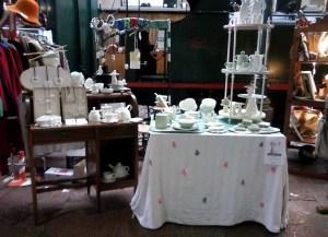 Stand de Barruntando cerámica en el Mercado del ferrocarril 2014