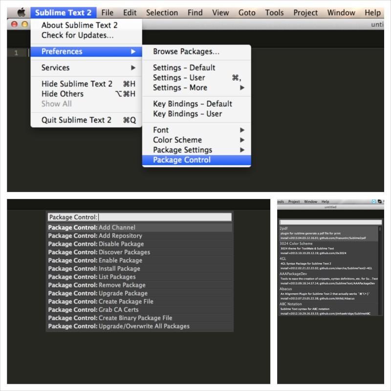 SublimeText 套件管理控制器 Package Control