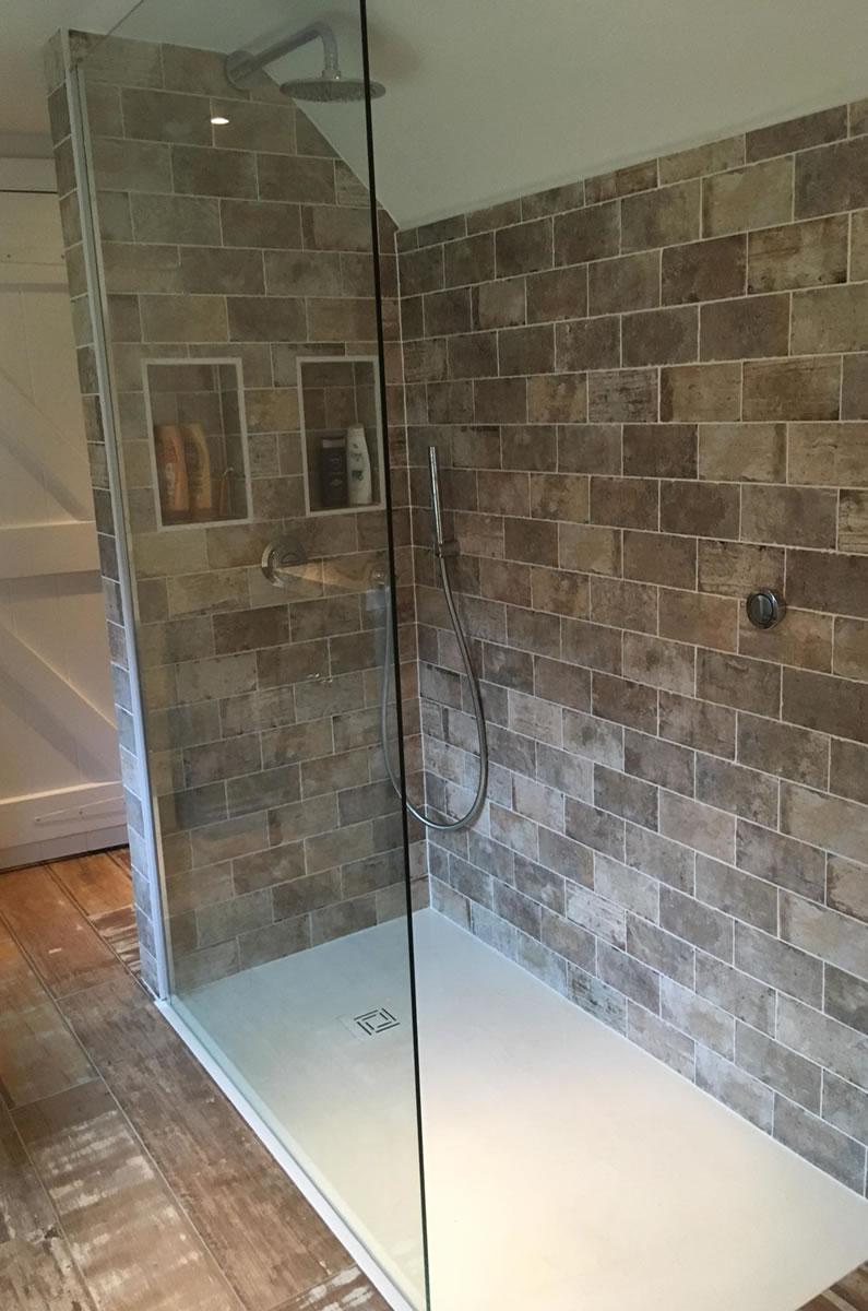 Flushed Floor Shower Tray