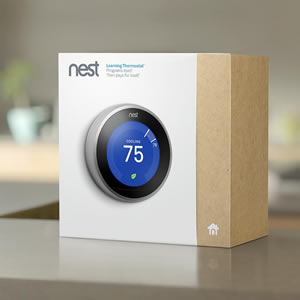 a Nest Thermostat  in its box