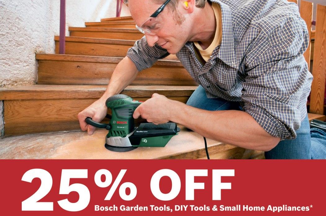 Bosch Tools Offer 25% off