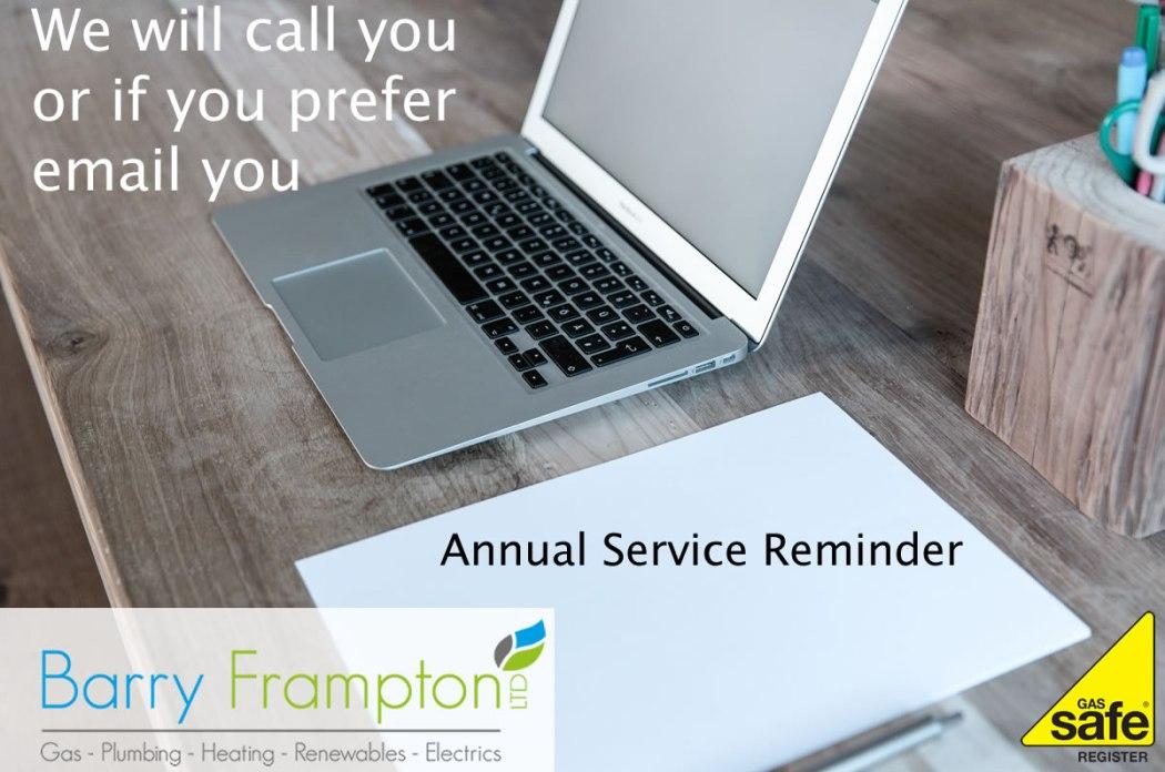 Annual Boiler Service Reminder