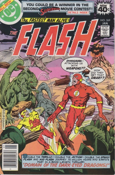 Flash vs. dinosaurs