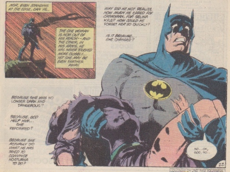 Batman weeps