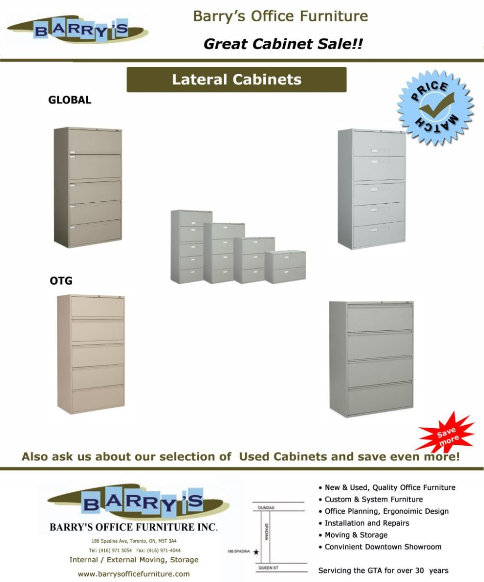 Lateral File Cabinet Sale Toronto Global Cabinets OTG