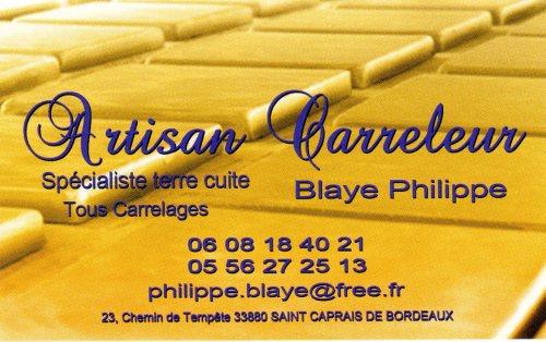 Blaye Philippe carreleur