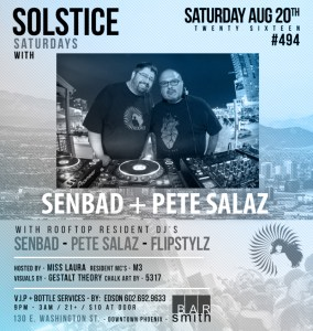 Solstice Saturdays - 2 Floors | 2 Sounds @ Bar Smith  | Phoenix | Arizona | United States