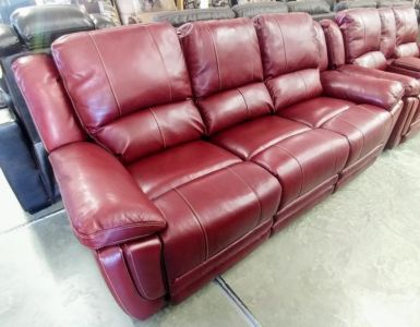 MNY2628 5P 2214L+PUa Salsa Leather Motion Sofa And Loveseat Cup Storage C1298 P