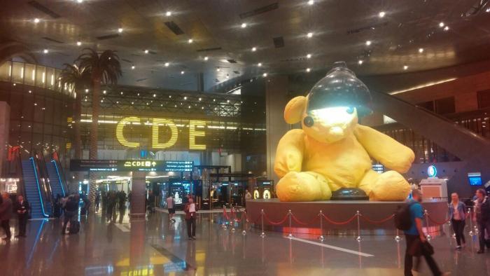 Riesenbär in Doha