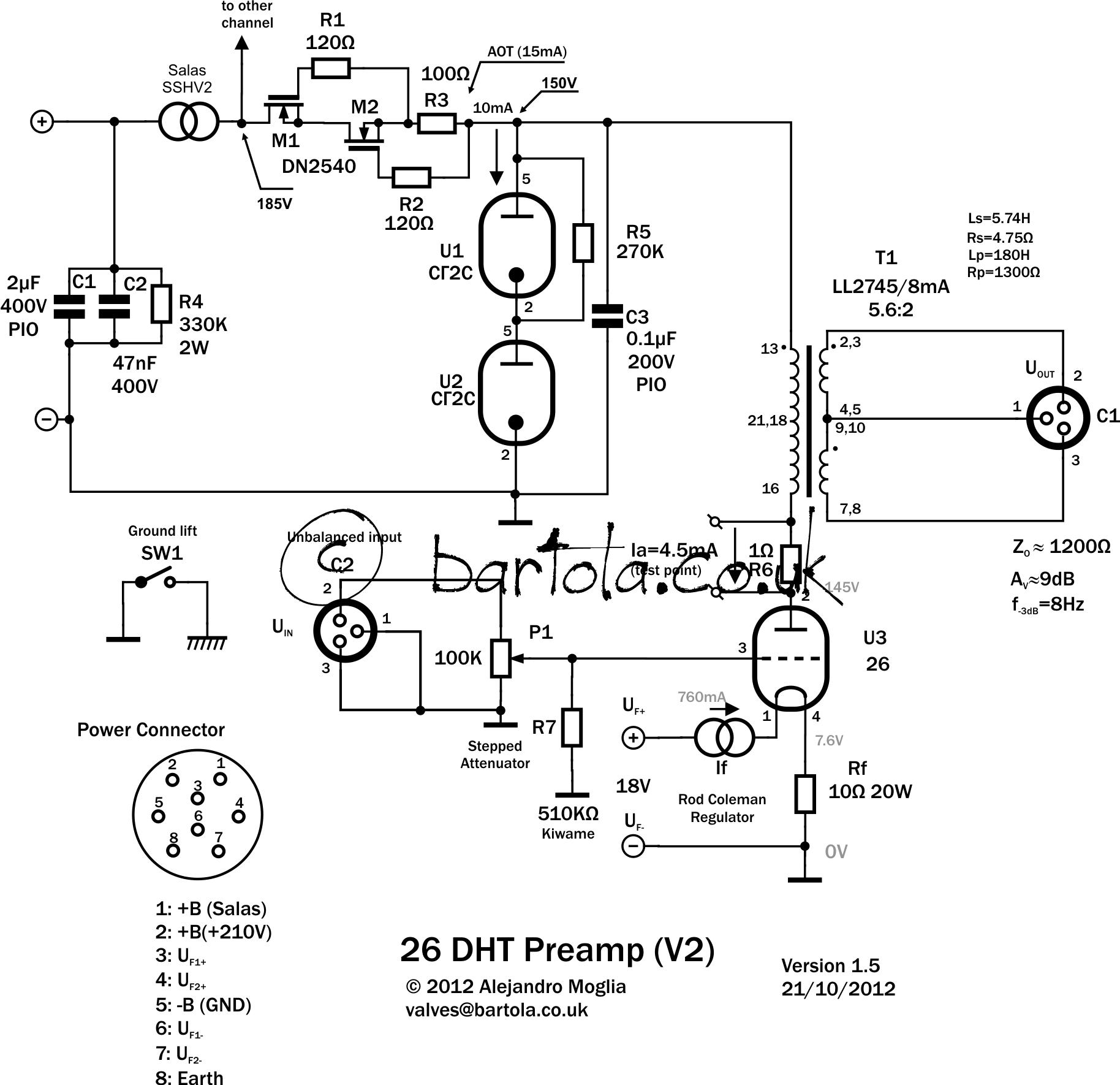 26 Dht Pre Amplifier Gen2 Bartola Valves