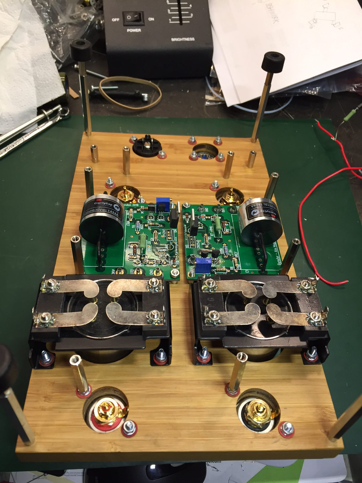 Dht Preamp The Mule Bartola Valves Birth Of An Amplifier Initial Sockets Are Nos Short Pin Ux 4 Uv I Will Play Around With 01a Before Move To Other Dhts Still Need Add Tag Strips For