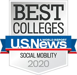 US NEWS Best Colleges for Social Mobility badge