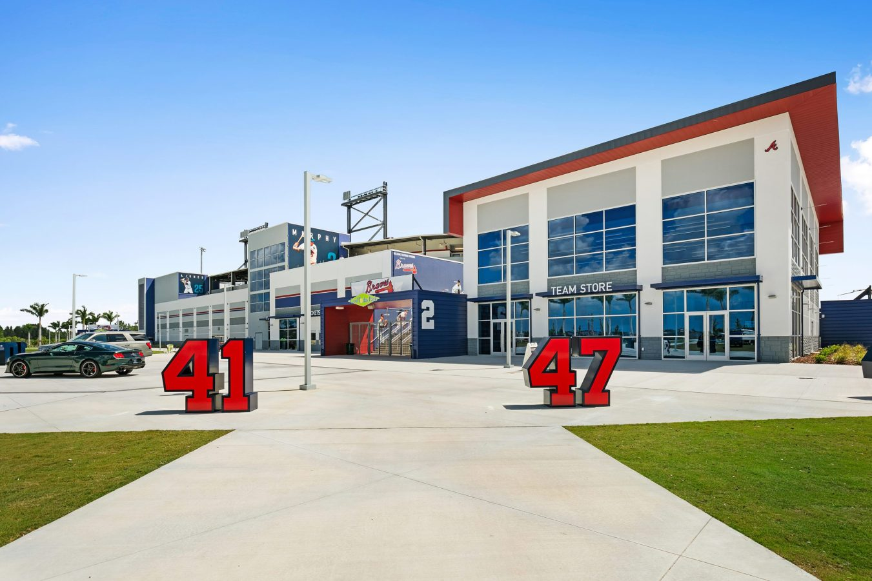 Main entrance for the Atlanta Braves Spring Training Facility