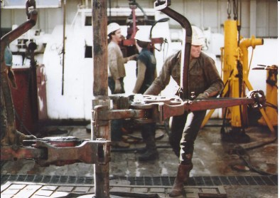 Don Davis working in an oil rig