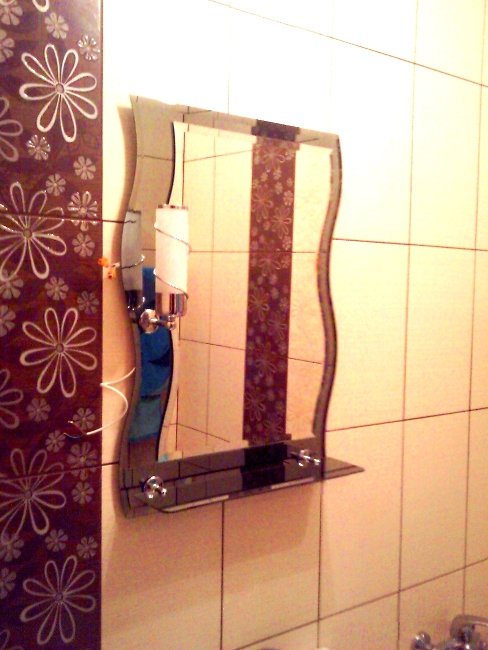 wojkowice -lustro w łazience