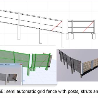 model ogrodzenia dla archicad