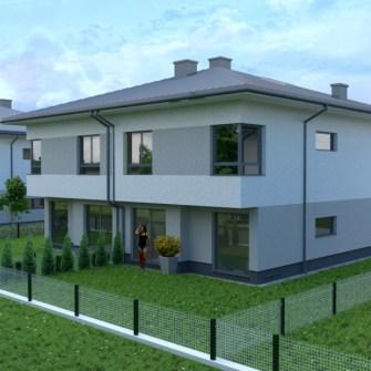 wizualizacja narożna ogrodowa budynku jednorodzinnego