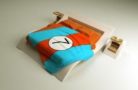 projekt nowoczesnego łóżka do masterbedroom