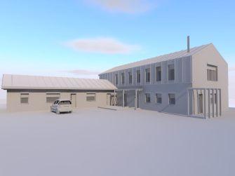 projekt koncepcyjny budynku siłowni i zarządu ośrodka sportowego